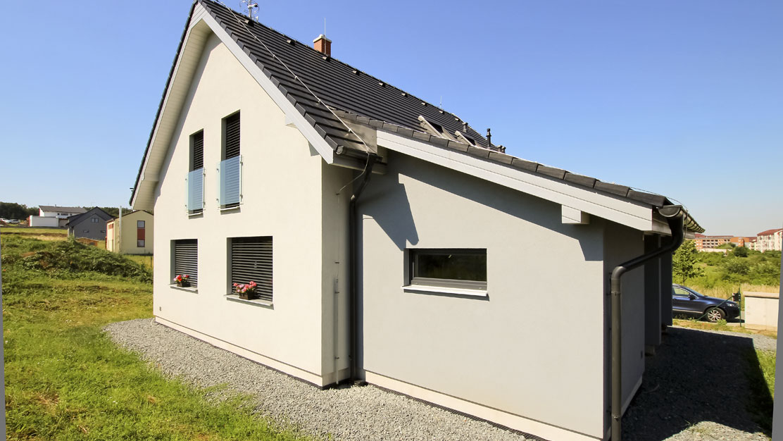 Moderní dům využívá technologie Rehau